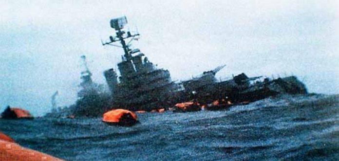 Resultado de imagen para crucero general belgrano hundimiento